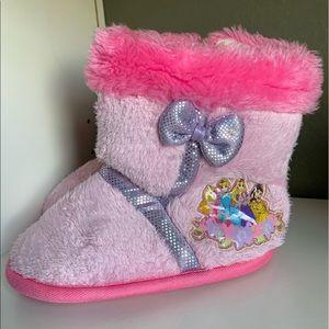 Disney Princess Pink Slippers Vegan Fur Toddler 7